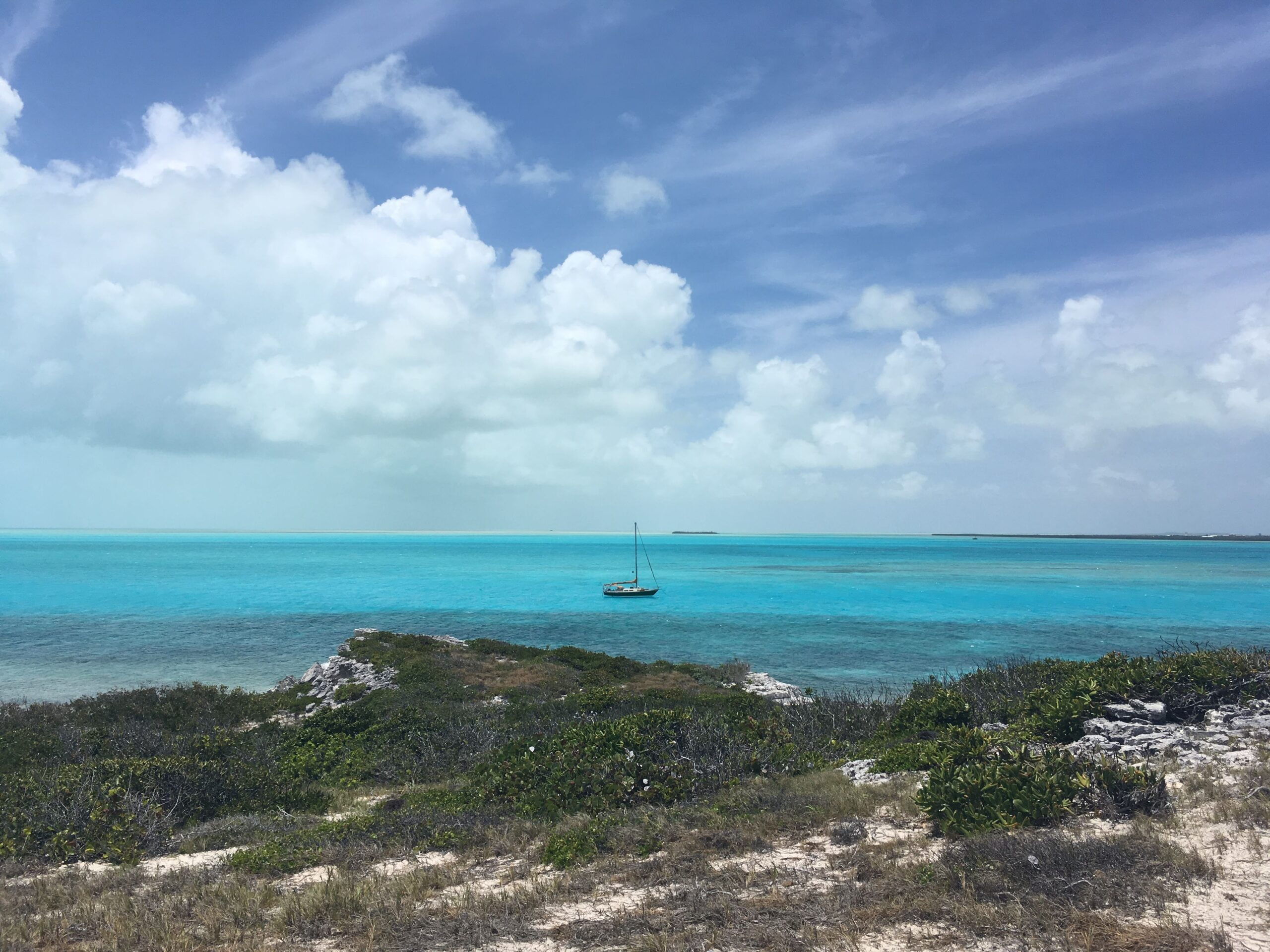 Anchored out in South Caicos, Turks & Caicos